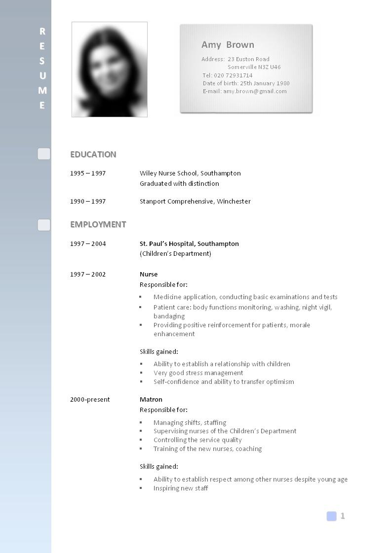 curriculum vitae writing websites usa
