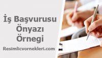 İş Başvurusu İçin Ön Yazı Örnegi