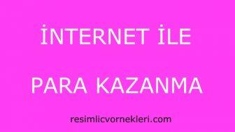 İnternet İle Para Kazanma