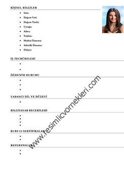 Fotoğraflı CV Formu
